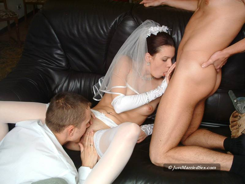 Group porn with brides